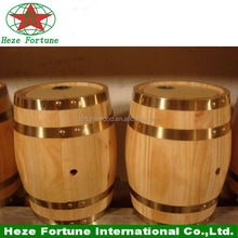 Popular decorative pine wooden mini wine barrel