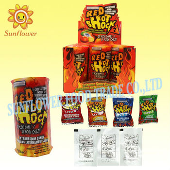 Center Filled Sour Hard Candy With Tattoo