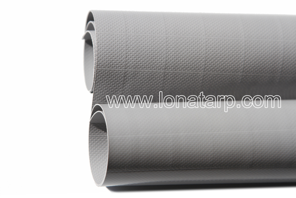 1000D*1000D 20*20 650g 19oz Grey PVC Coated Tarpaulin