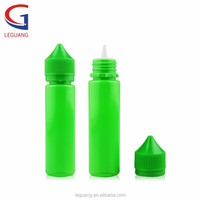 Hot products round PET dropper unicorn gorilla child tamper resistant plastic green bottle wholesale