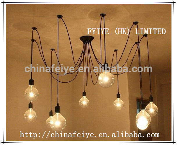 Pendant Chandelier - Modern lighting Industrial Chandelier/Black Hanging Pendants Rustic Lighting