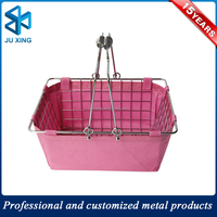 handle chrome wire metal shopping basket\ cosmetic shopping basket