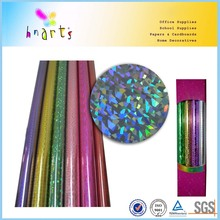 pet sequins spangle film,self adhesive holographic printing film,colored PVC holographic film