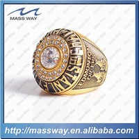 high grade fashion championship custom diamond brass mens ring