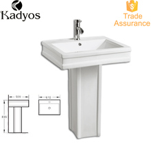 Bathroom Pedestal Art Sink lavabo KD-20PB