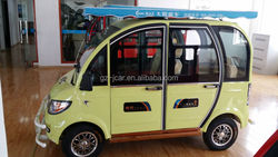 Solar power 4 seater passenger electric car & vehicle, electric bike & scooter electric, electric rickshaw for sale (60V 1000W)