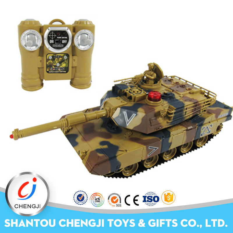 New arrival 2.4G plastic toy large scale gas powered rc tanks