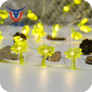 Novelty 1M 10LED Party Lamps Christmas Tree Home Wall Garden Decor Led Coconut Tree String Lights