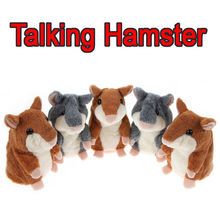 Hot Gifts for Kids Talking Hamster Mimicry Pet Toy Repeat Talking Mouse Plush Hamster