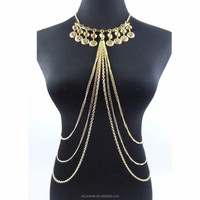 Flower Pendant Necklace Body Chain Wholesale