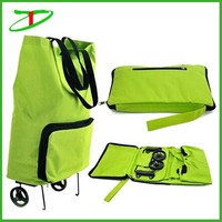 easy carry foldable shopping trolley bag, nylon foldable shopping bag, trolley shopping bag