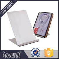 Durable stainless steel matte clothing store shelves