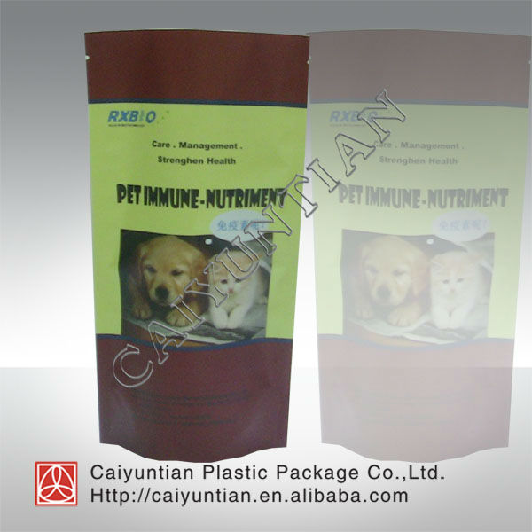 Stand up dog food packaging bag/Pet food plastic packgaing bag
