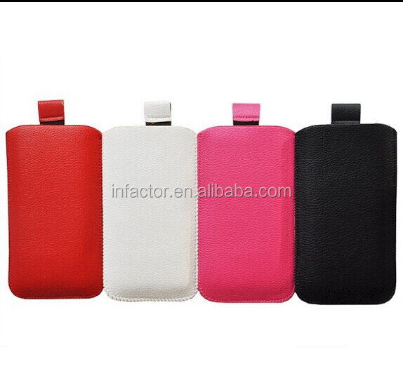 Pull Tab Pull Up Pouch Slide In Case Cover Holster Sleeve Luxury Design Funky for iPhone 4 4s