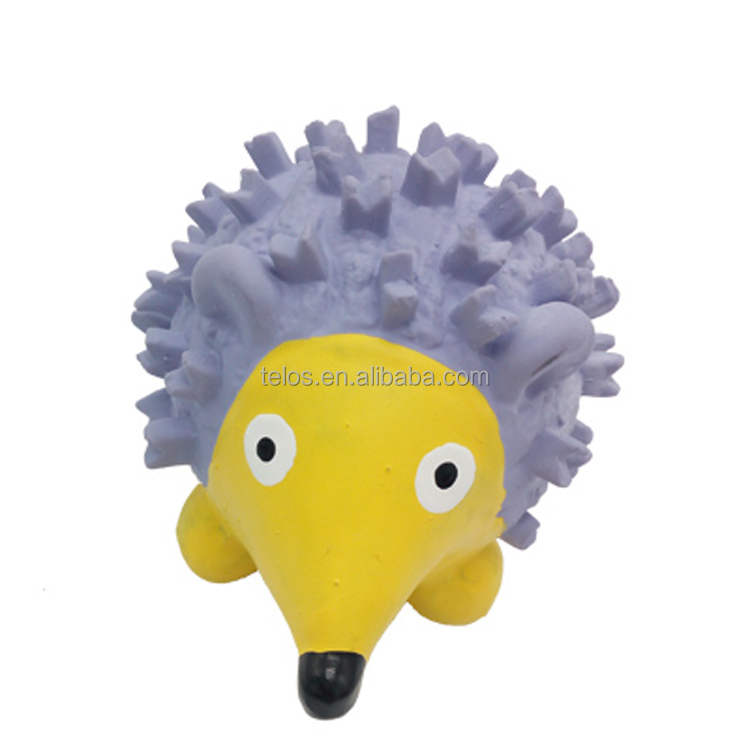 Squeaky Hedgehog Latex Dog Toys Lovely Pet Toys soft for dogs