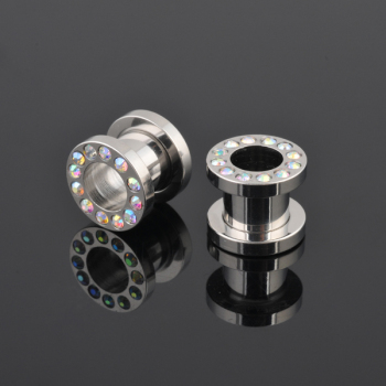 Best quality ear plug flesh tunnel,multi czechic ear flesh tunnel piercing