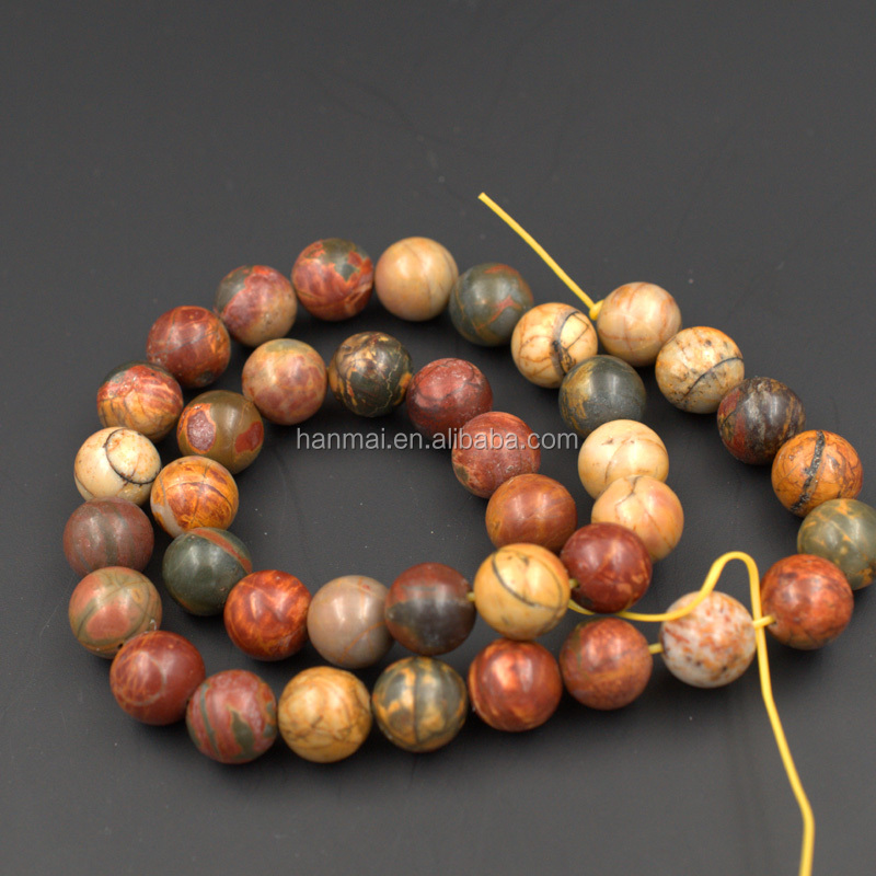 <strong>natural</strong> gemstone beads 6mm 8mm 10mm Picasso jasper