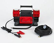 Heavy duty 60mm double cylinder 300LPM 4x4 tire inflator pump 12v car air compressor