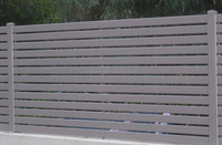 High quality aluminium fence/Powder coating black cast aluminium fence