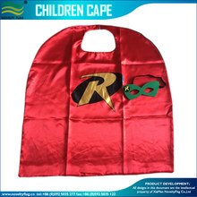 Wholesale kids superman cloaks with mask and kids costume capes