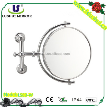 Hot selling round double sides wall bathroom shaving mirror