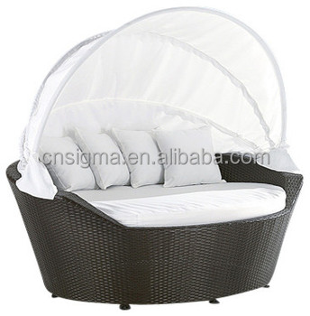 2015 All Weather Outdoor Rattan Furniture Canopy Loveseat Daybed