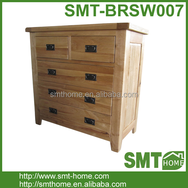 Natural Solid Oak Wooden Four Layers Chest Of Drawers Kitchen Cabinet