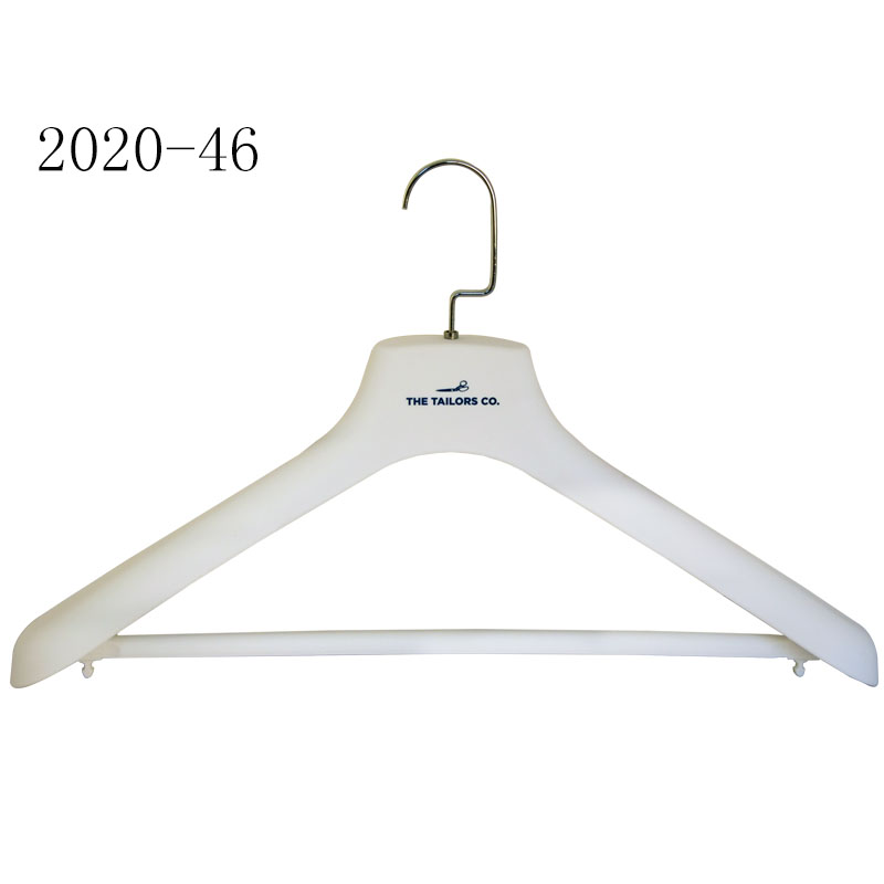 Factory Price White Rubber Coating Pants And Shirt Holder Hanger