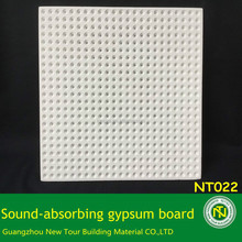 Sound absorbing office gypsum ceiling board