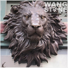 Metal Wall Mounted Bronze Lion Head Sculpture