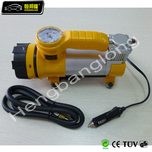 10 bar air compressor with led light co2 bike tire inflator