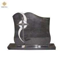 china hebei black granite guitar headstones/monuments