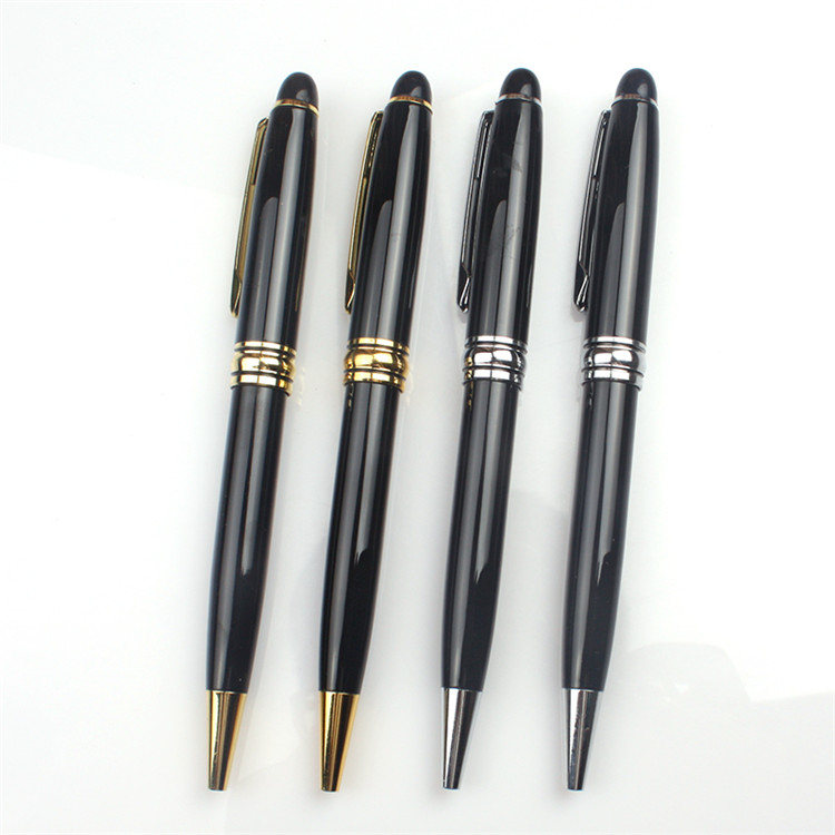 Wholesale interesting small fast selling items black stainless ball pen