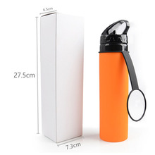 Hot Sale <strong>Sport</strong> Recycle Drink Collapsible Foldable Silicone Water Bottle