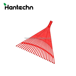 24 teeth leaf grabber rake with steel handle Plastic hay rakes adjustable fan rake of China