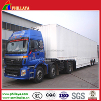 Phillaya brand Best-selling high quality heavy loading 3-axle van vehicle for sale