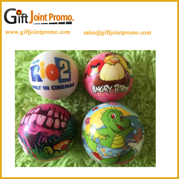 Cheap Customized Full Color Printing Round PU Anti Stress Ball