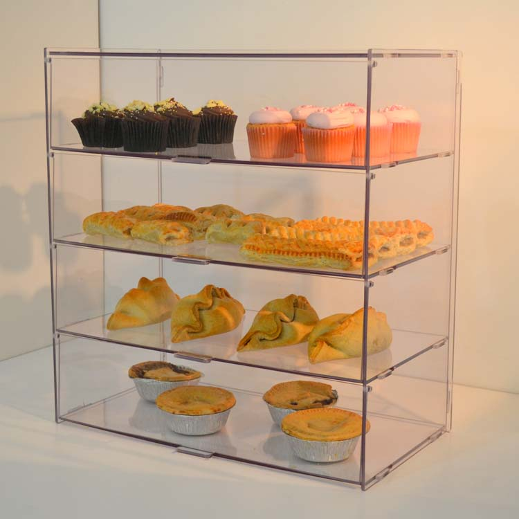 shopping mall supermarket counter acrylic food display stand