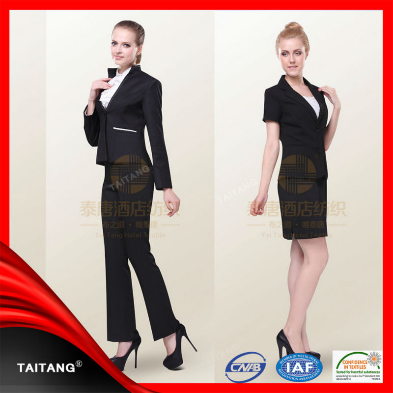 high quality 2017 hot sell customized stylish the office staff uniform