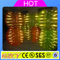 Funny glowing plastic bumper bubble ball with fluorescent rope