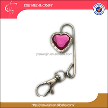 keychain purse hook brunei souvenir heart shaped holder for purse bling rhinestone key finder