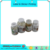 High quality pill bottle labels printing,plastic bottle label,paper sticker made