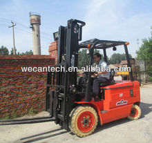 AC Control Battery Forklift , Electric Forklift with White Tires and 6M Lifting Height