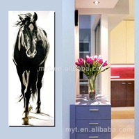 Famous horse running wall pictures handmade modern chinese horse oil painting