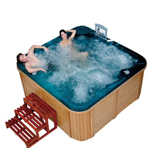 garden whirlpool freestanding indoor home shallow spa bath relax outdoor