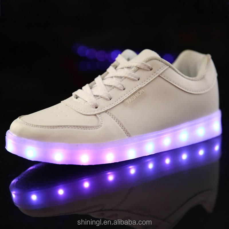 2016 Multi Colors High Quality New Fashion Led Shoes Casual Women & Men Shoes Led Luminous USB Charging Light