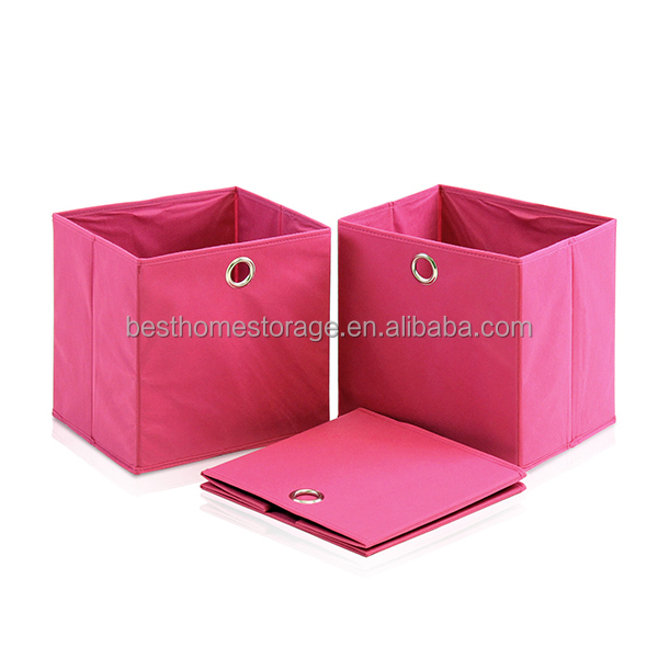 Collapsible Fabric Storage Bin For Storage With Grommet