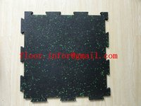 interlocking GYM rubber mat with EPDM dots