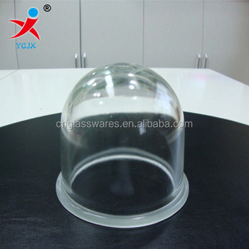 clear high borosilicate glass dome lamp shade