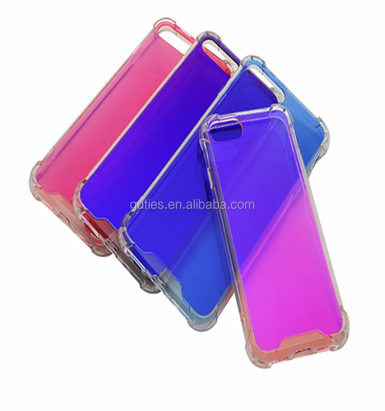 Ultra Thin Transparent Clear TPU+PC Shockproof Back Case Cover For iPhone 7 7 Plus